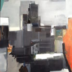 """Midtown"" oil on birch panel, 30in x 36in"